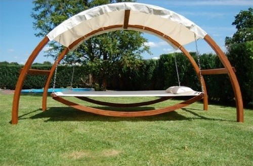 This Swing Bed With Canopy Lets You Relax All Day