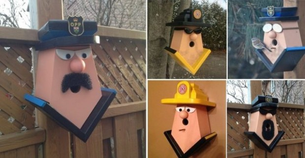 Firefighter and Police Birdhouses
