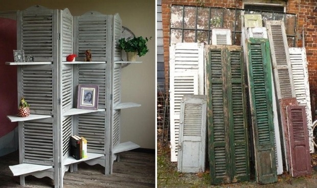 Learn How To Use Old, Useless Shutters In Brilliant Ways!